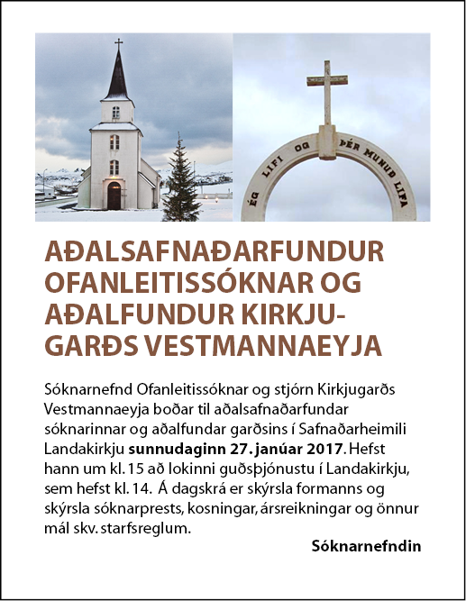Landakirkja – aðalfundur