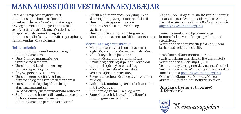 VEY – Mannauðsstjóri