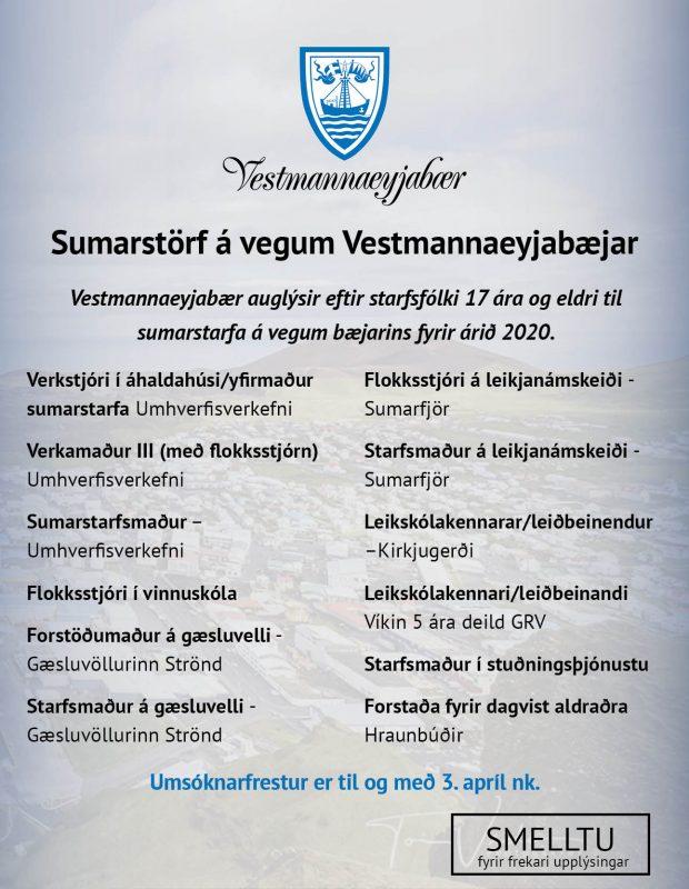 Vey – sumarstörf