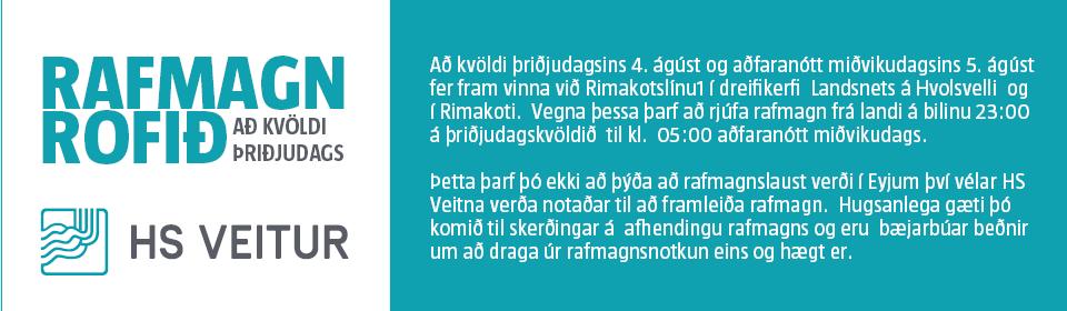 HS – rafmagn rofið