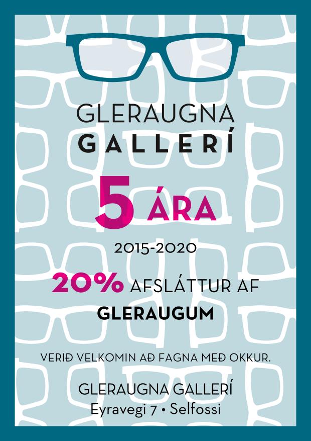 Gleraugnagallerí – 5 ára