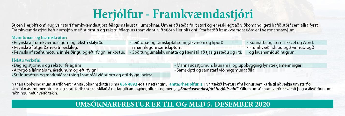 Herjólfur – framkvæmdarstjóri