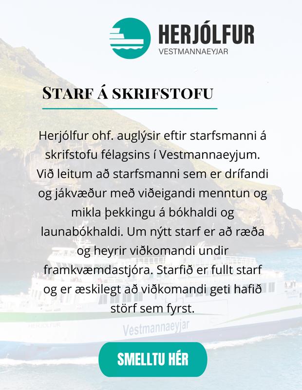 Herjólfur – skrifstofustarf