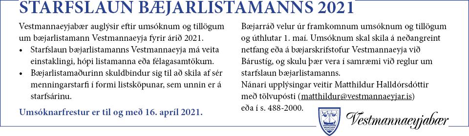 Bæjarlistamaður 2021